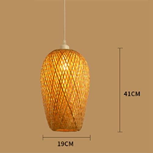 Andifany Bambou Moderne Travail Tricot/é /à la Main en Bambou Tissage Lustre Restaurant /à la Main en Bambou Lanterne Lustre H?Tel Restaurant D/écoration Lampe