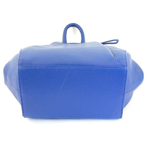 Pavini - Bolso mochila  de Piel para mujer Azul azul
