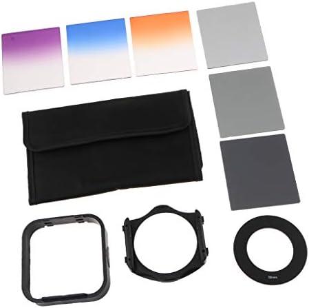 10 in 1 カメラレンズ NDフィルターキット カラーフィルターセット オレンジ/ブルー/パープル/グレー - 55mm
