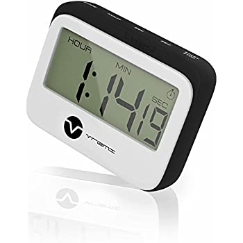 Vremi VRM020264N Digital Kitchen Timer Magnet Loud Clock With Alarm And  Large Display In Cute Retro