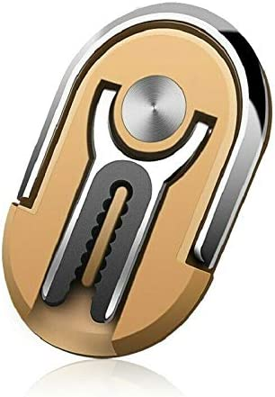 360/°Rotation /& 90/°Flip Minishop Multipurpose Mobile Phone Bracket Holder 2 in 1 Universal Air Vent Car Phone Mount and Finger Grip Ring Kickstand Gold