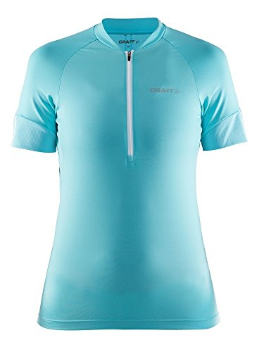 Craft Sportswear Women's VeloBike and Cycling Training Half Zip Short Sleeve Jersey: protective/riding/compression/cooling, Sea, ()