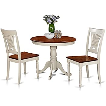 3 piece kitchen table bistro dining east west furniture anpl3whiw 3piece kitchen nook dining table set buttermilkcherry finish amazoncom target marketing systems piece tiffany country cottage