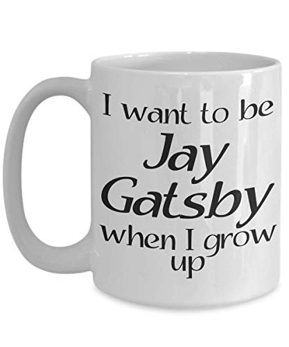 Jay Gatsby Mug - Inspired by The Great Gatsby - Gift Idea for Reader, American Literature Teacher, Professor - Ceramic Coffee Tea Cup]()