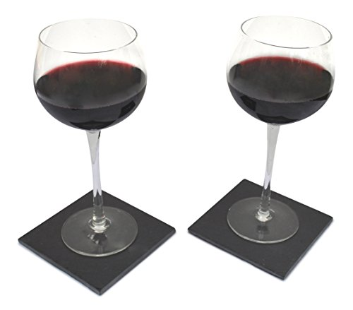 Jetty Home Stone Coasters With Wine Glass Gift Set Cork