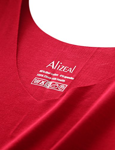 Alizeal - Chaleco - Sin mangas - para mujer rojo vino