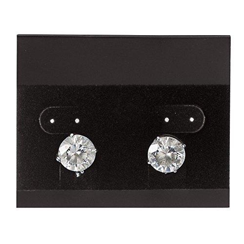 (Horizontal Black Velour Earring Cards - Case of 1,000)