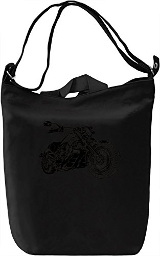 Motorcycle Borsa Giornaliera Canvas Canvas Day Bag| 100% Premium Cotton Canvas| DTG Printing|