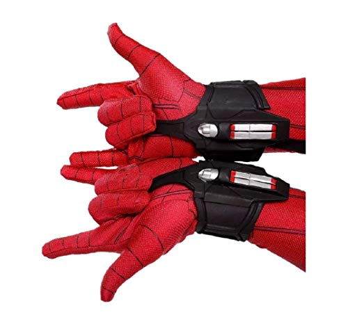 SPM Web Launcher Web Shooter Dart Blaster Face Shell Mask Halloween Cosplay Prop (2PCS Web Shooter) (Best Spiderman Web Shooter)