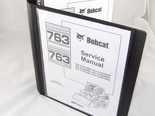 Kit Manual Service - Service Repair workshop Manual Kit with Binder for Bobcat 763 763F Skid steer