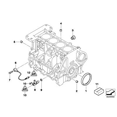 Mini O-Ring for Crankshaft Position Sensor R50 R52 R53 Cooper Cooper Cooper S Coop.S JCW GP Cooper S: Automotive