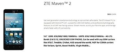 """ZTE Z831 Prepaid Carrier Locked - 5.0"""" Screen - 8GB - Dark Grey (International Version - No Warranty)"""