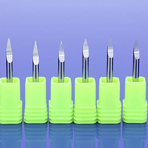 NO LOGO HWW-DIAOKEZT, 1pcs 3A 3.175mm CNC-Fräser-Bit Präzisionsschleifen V-Form Carbide PCB Engraving Bits Milling Cutter (Size : 20x0.2)