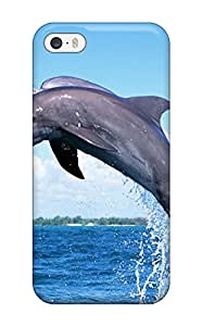 Hot 3133466K19079749 For Iphone Protective Case, High Quality For Iphone 5/5s Dolphins Skin Case Cover