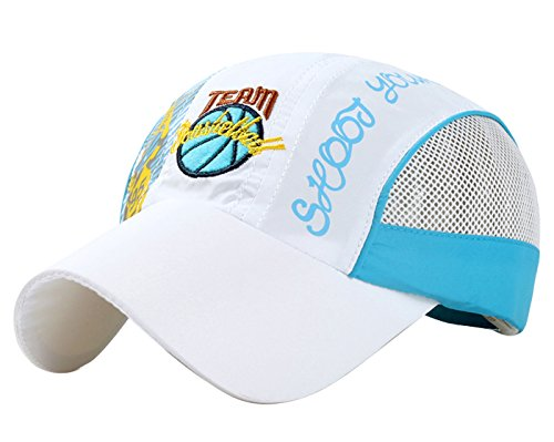 Panegy Lightweight Hat for Kids Toddler Cotton Quick Dry Sun Hat Baseball Cap White by Panegy