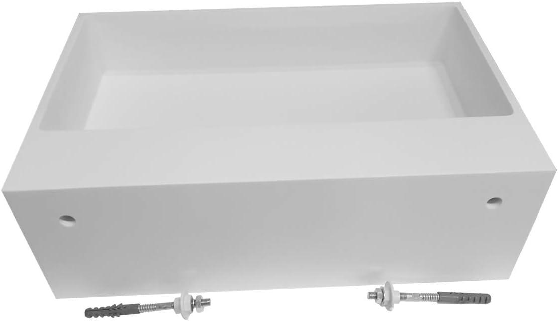 bianco opaco Solid Stone Lavabo sospeso TWG02 di pietra artificiale