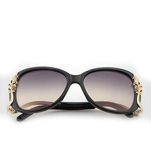 Retro con Grandes de Gafas Frame Lens Black Purple Lens Gafas Sakuldes Marcos Sol de Borrow Frame Gafas Sol de Vintage Color Black Sol 78AwxvIq