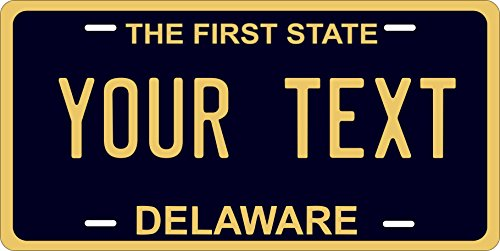 50 State Personalized Custom Novelty Tag Vehicle Auto Car Bike Bicycle Motorcycle Moped Key Chain License Plate (Delaware 1970)