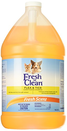 Tick Shampoo Gallon - Fresh 'n Clean 21563 Flea/Tick Conditioning Shampoo, 1 Gallon