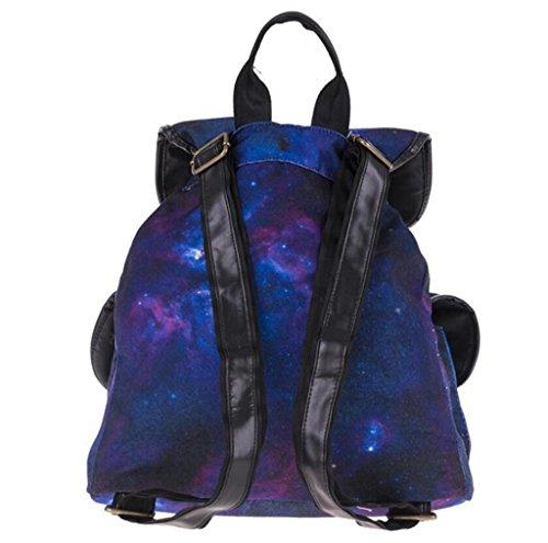 SHFANG Doppelte Taschen-Rucksack-Druck-purpurrote Himmel-Beutel-Kursteilnehmer-Reise-justierbare Bügel-Einkaufen 32 * 36 * 15cm