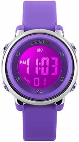 My-Watch Girls Digital Watch Sport Waterproof Kids Outdoor Stopwatch LED Luminescent Wrist Watches
