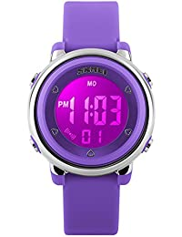 Girls Digital Watch Sport Waterproof Kids Outdoor Stopwatch LED Luminescent Wrist Watches