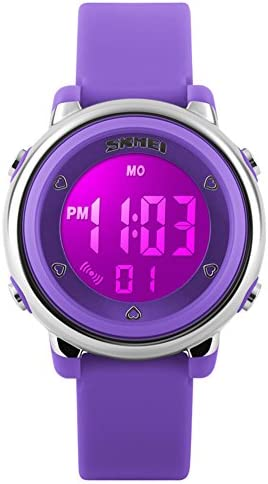 my-watch las niñas Digital Watch Sport Waterproof Kids al aire última intervensión Cronómetro LED luminiscentes muñeca relojes