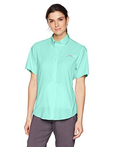 Columbia Womens Tamiami II Short Sleeve Shirt, Pixie, X-Small