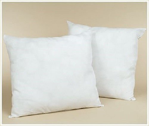 IZO All Supply Set of 2-20 x 20 Square Sham Stuffer Hypo-Allergenic Poly Pillow Form Insert