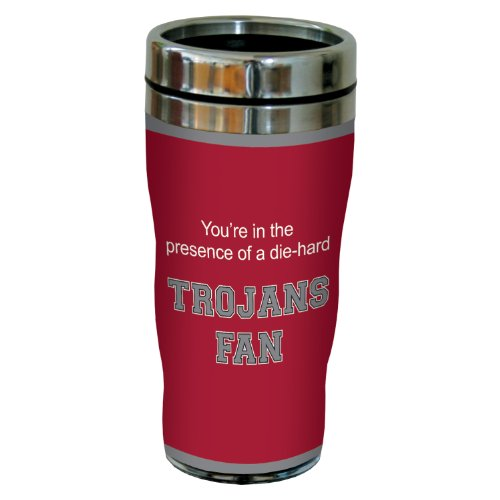 Tree-Free Greetings sg24919 Trojans College Basketball Sip 'N Go Stainless Steel Lined Travel Tumbler, 16 Ounce ()