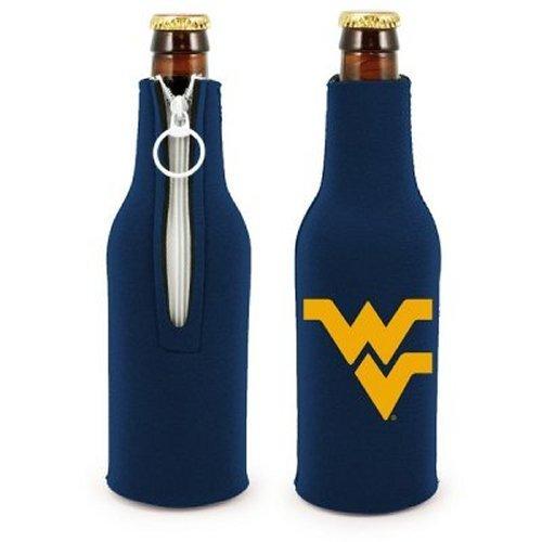 NCAA West Virginia - Neoprene Bottle Suits (2) | WVU Mountaineers Bottle Insulators with Zipper - Set of 2