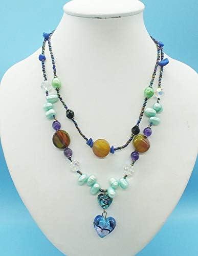 YMKCMC Collar De Perlas Y Coral Rosa Natural De 8-9 Mm, Pulsera, Pendientes, Conjunto De Joyas Clásicas para DamasPromoción