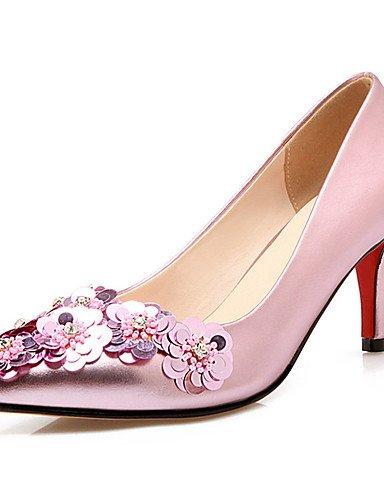 Textiles / Home ZQ de las mujeres los zapatos de tac¨®n de aguja tal¨®n talones/zapatos de tac¨®n en punta del dedo del pie de la boda/fiesta&?noche/, 3in-3 3/4in-golden 3in-3 3/4in-golden