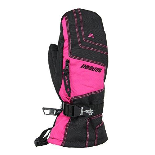 Gordini Womens 3M3033 Ultra Drimax Gauntlet Mitten, Black/Dark Pink - L