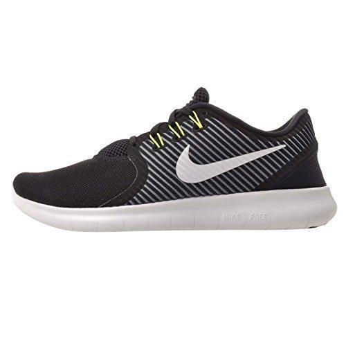 Cheap Nike Womens Shoes Free RN Commuter Running lightweight Sneaker (8.5 B(M)us, Black/Off White/Dark Grey/Volt)