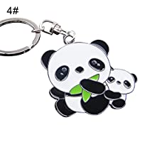 Fashion Lovely Panda Metal Keyring Keychain Car Key Holder Bag Pendant Gift