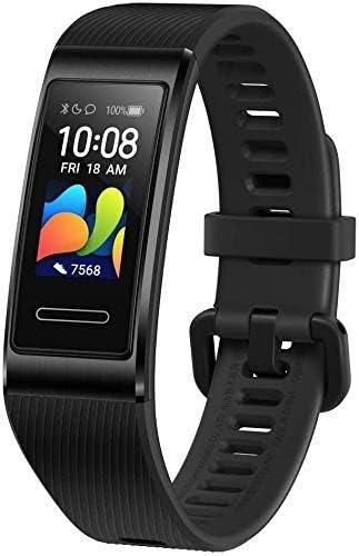 HUAWEI Band 4 Pro - Pulsera de actividad con pantalla AMOLED de 0.95 pulgadas, monitorización continua con TruSeen 3.5 24/7, monitoreo del sueño, GPS incorporado, 5 ATM, color graphite black
