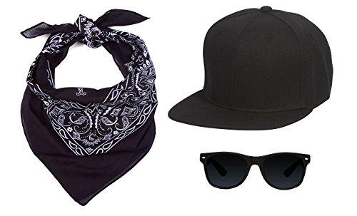 Super Italian Brothers Main Stream Costume Kit, Hat Sunglass - Luigi Sunglasses