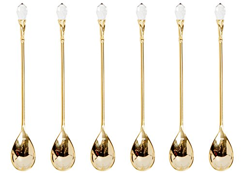 Plated Flatware Spoons Crystal Jeweled product image
