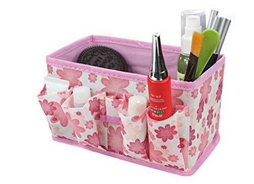 Jamniy Makeup Cosmetic Storage Box Bag Bright Organiser Foldable Stationary...