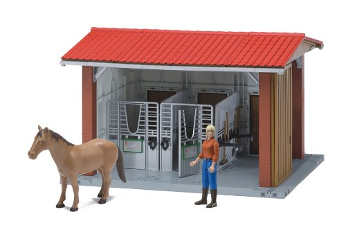 Bruder Bworld Horse Stable Woman Horse and Accessories