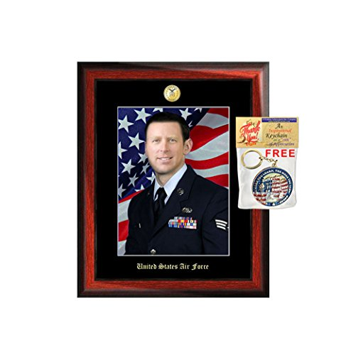 Personalized Soldier 8x10 Portrait Picture Frame Military Photo Wall Frames USAF Plaque FBI Army Promotion Soldier USMC Police Promotion Officer Retired Sheriff US Navy Soldier Retirement ()
