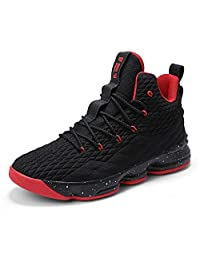 dff64ecae3a KEREE Womens Mens High-Top Stylish Shock Absorption Basketball Shoes  Flyknit Breathable Athletic Running Sneakers