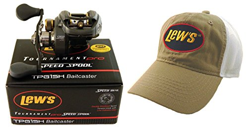 Bundle – Lew's Tournament Pro G TPG1SH 7.5:1 Right Hand Baitcaster with Hat Review