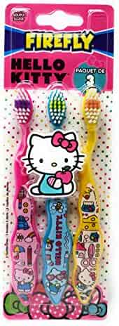 Firefly Hello Kitty Toothbrushes (3), 3 Count