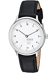 Mondaine Unisex MH1R1210LB Helvetica Analog Display Swiss Quartz Black Watch