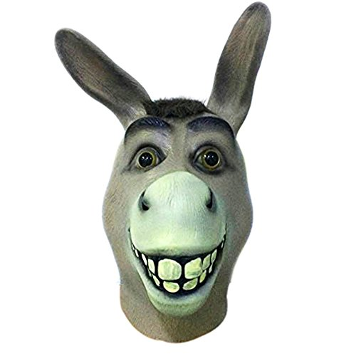 Halloween Novelty Deluxe Mask Molezu Costume Party Cosplay Latex Donkey Head Masks