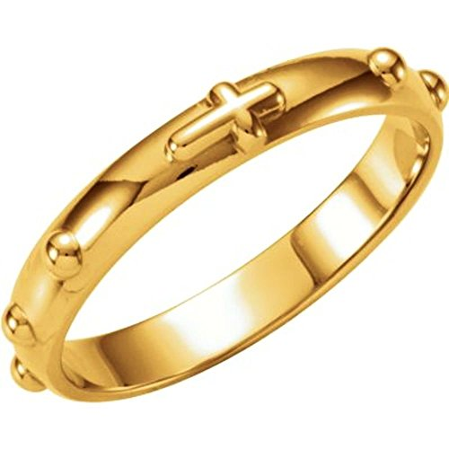 14k Yellow Gold Rosary Ring - Size 8 (Rosary 14k Ring Gold Yellow)