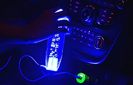 15 cm Universal Crystal Bubble LED Light Colorful Manual Gear Stick
