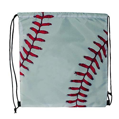 Sports Drawstring Backpack, Baseball, Set of ()